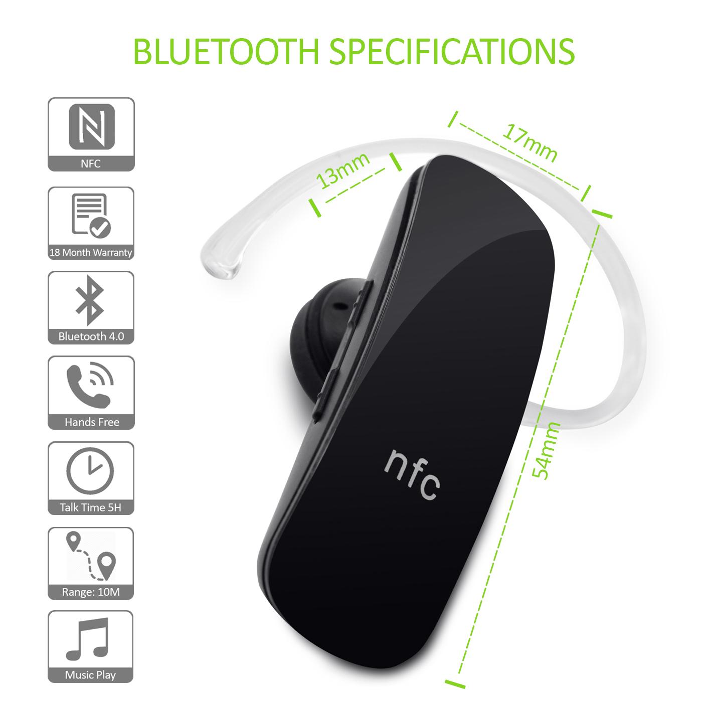 schwarz stereo bluetooth headset kopfh rer ohrh rer mit. Black Bedroom Furniture Sets. Home Design Ideas