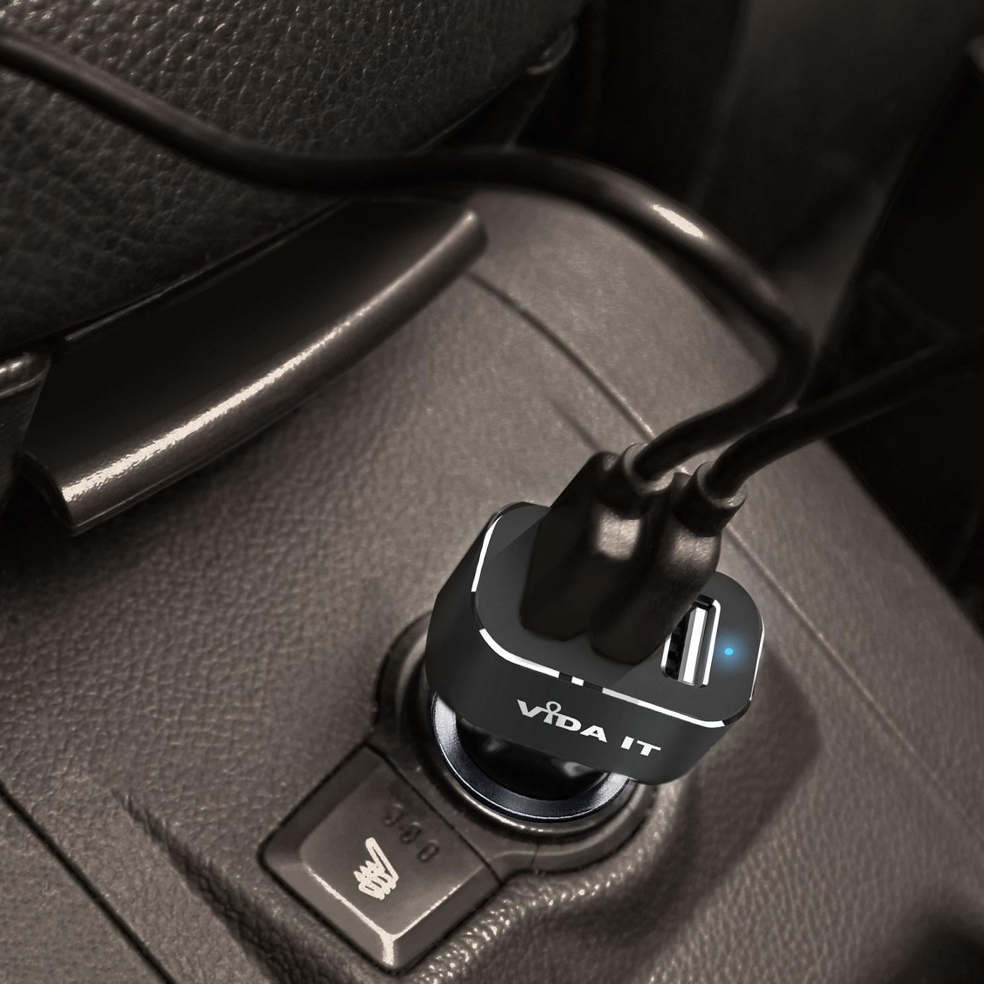 Triplo-3-Port-USB-Caricatore-Caricabatterie-per-Auto-Veloce-5-2A-Per-Cellulare miniatura 5