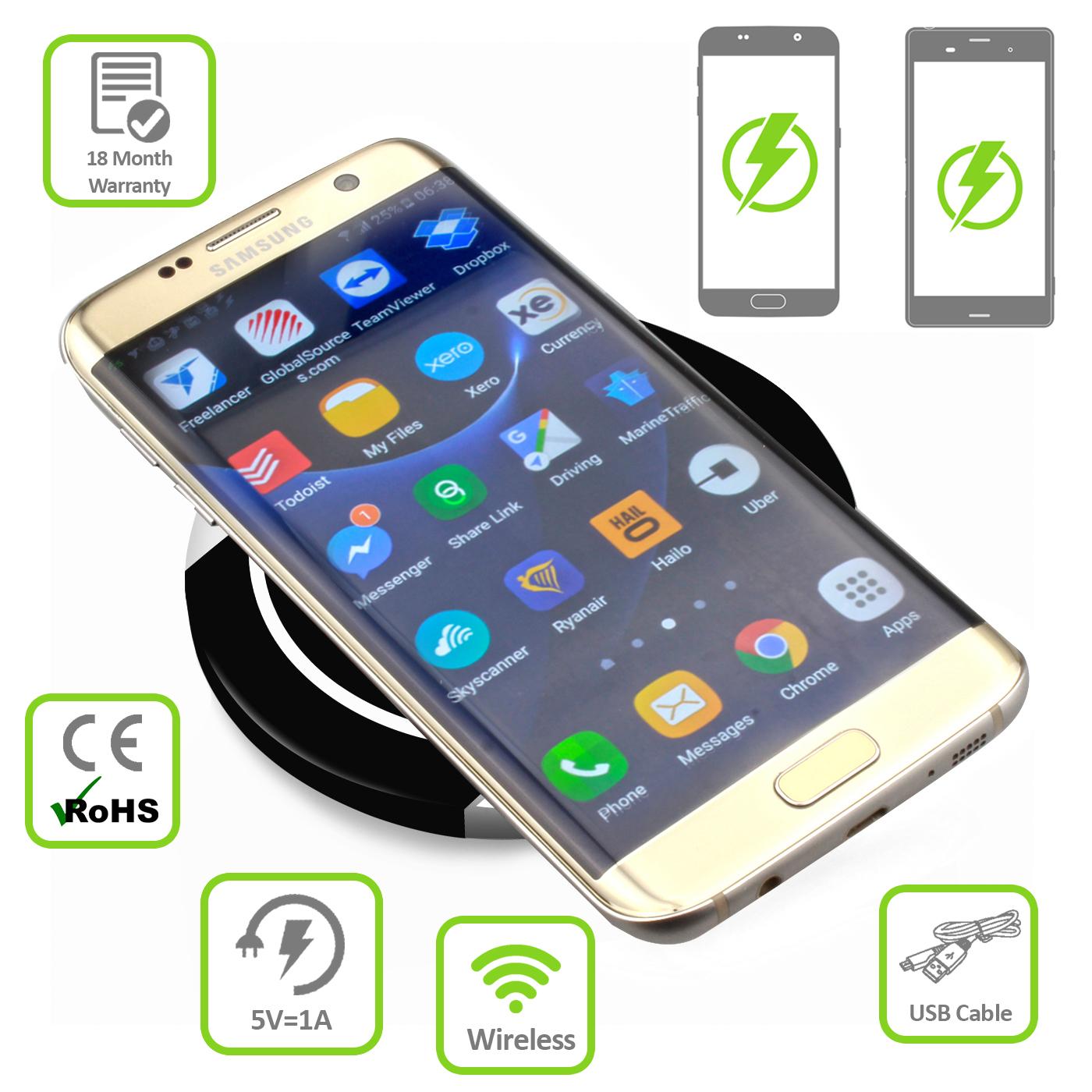 Senza-Fili-Qi-Caricatore-Di-Ricarica-Caricabatterie-Charging-Pad-Per-Cellulare