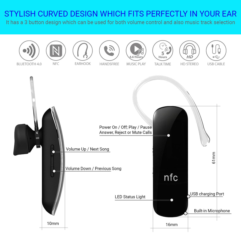 Stereo Wireless Bluetooth 40 Headset Kopfhorer Mit NFC