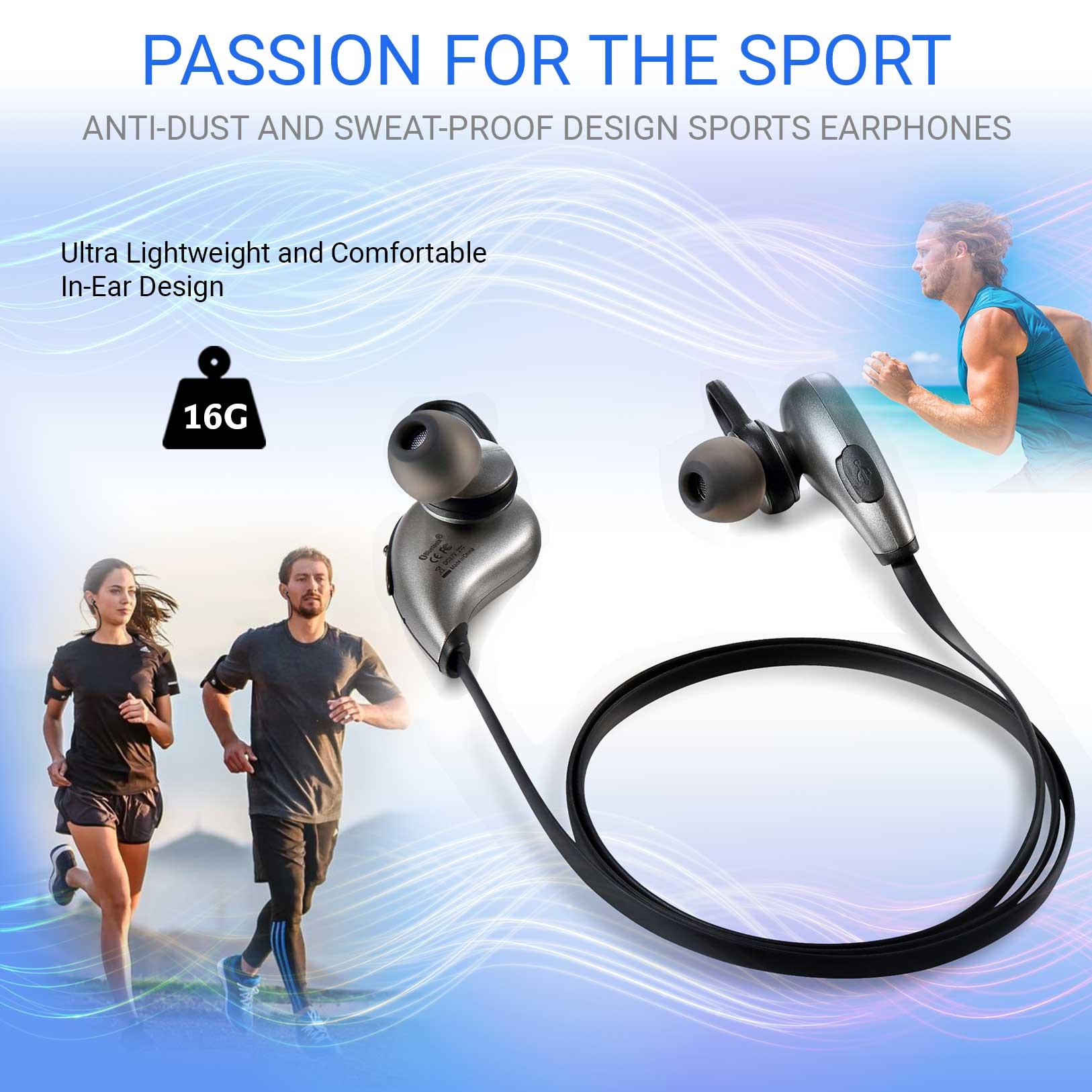 Sport-In-Ear-Bluetooth-Kopfhoerer-mit-Integriertes-Mikrofon-Fuer-Nokia-N8-Handy